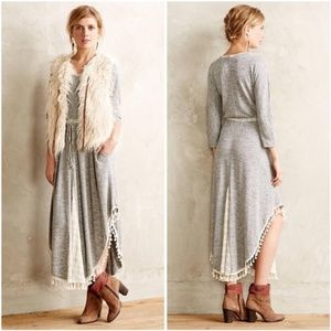 Anthropologie Saturday Sunday Tasseled Maxi Dress